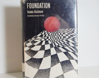 Vintage Book Foundation by Isaac Asimov Mid Century Science Fiction Book 1951 Vintage Library Book Vintage Paper Ephemera