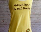 adventure is out there, adventure is out there shirt, wilderness explorer shirt, adventure tank top, disney shirt, Up movie, carl and ellie