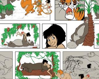 Jungle Book Fabric, Disney Flannel, Disney Character, Cotton Fabric, Flannel, Jungle Book, Kids Fabric, Fabric by the Yard