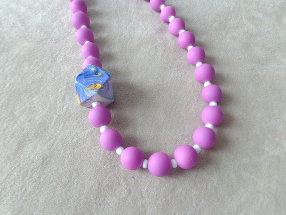 purple pink necklace