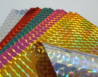 Hologram Chiyogami Poly Pack for Origami Project- 15 sheets
