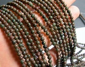 Kashgar Garnet - 4mm round bead - 100 beads - full strand - RFG551