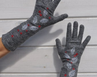 Felted gloves -- hand made to order