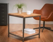 Reclaimed Wood and Steel Industrial Coffee Or Side Table