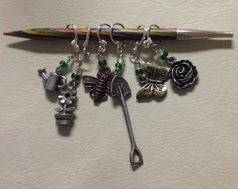 GARDENERS Know the Best DIRT Stitch Mark Greeting--Garden Themed Non-Snag Stitch Markers