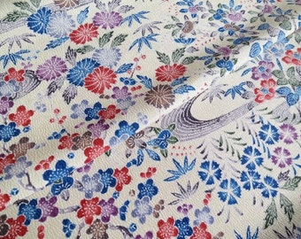 Japanese pure silk Ivory Floral pattern