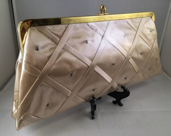 Vintage JR Miami Clutch with Diamond Pattern