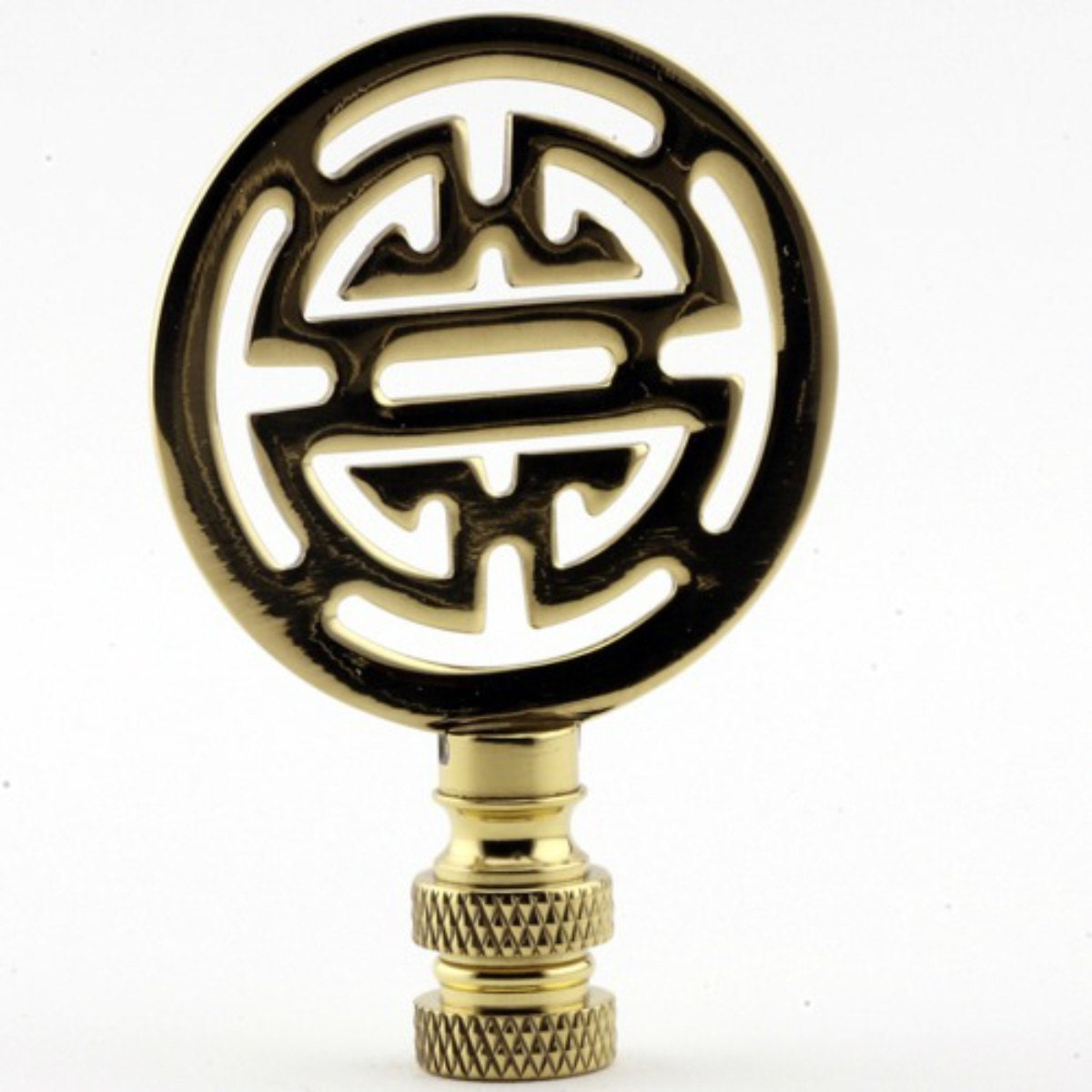 LAMP FINIAL Asian Classic Polished Brass