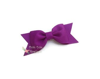 Royal Purple Hair Bow Clip, Toddler Hair Bow, Hair Barrette, School Bow, No Slip Hair Clip, Halloween Hair Bow, Girl Hair Bow, 41