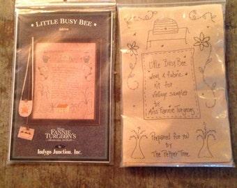 Little Busy Bee Miss Fannie Turgeon's  Wool Fabric Sampler Kit