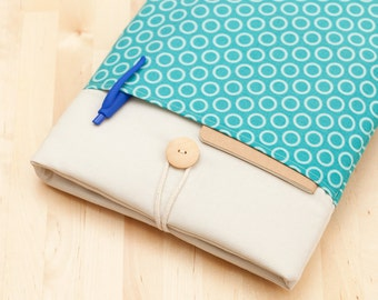 Surface Book Case, Microsoft Surface Pro 3 Cover, Surface sleeve, Surface Pro 4 Case - Light blue circles