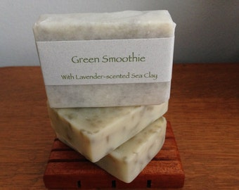 Green Smoothie Soap Bar with Lavender-scented Sea Clay - Clearance