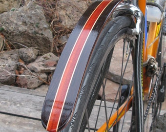 Woody's Chop Chort Rear Wenge and Blood wood bike fender.  Bicycle fender
