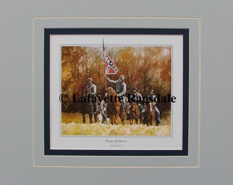 Horse Soldiers Civil War Watercolor Print Lafayette Ragsdale