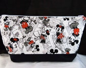 Mickey Mouse Zipper Bag/Pouch - Large