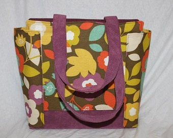 3 Inch Coupon Purse Binder Organizer, purple flower power