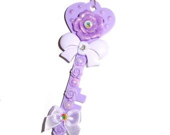 Secret Key Necklace (Lilac) ~ Roxie Sweetheart