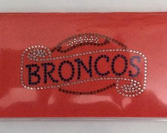 Broncos Rhinestone (Orange) Checkbook Cover