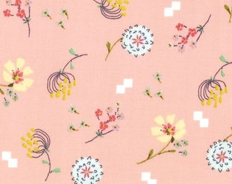 Posy Aneela Hoey Bouquet peach moda fabric FQ or more
