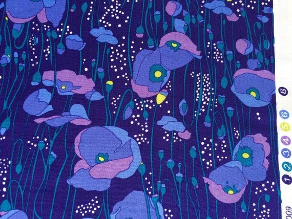Alexander Henry poppies fabric 2009 FQ or more