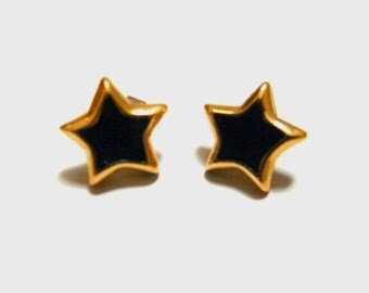 Vintage Napier star enamel earrings