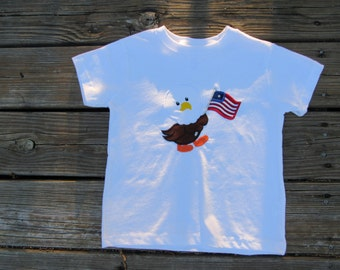 Flag Carrying Eagle T-shirt