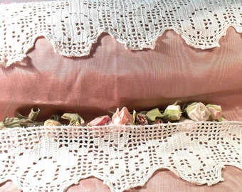 Vintage Lace Trim Hand Crochet Lace Craft Supply
