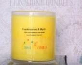 Frankincense & Myrrh Vegan Soy Wax Candle, 12 oz status jar candle