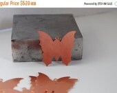 """FALL SALE Large Copper Butteryfly Blank 1 3/8 """" x 1 1/4"""" with Ring-24ga- 1"""" - PK/6-Great for your Jewelry Stamping Needs-Met-550.26"""