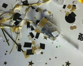 2016 Graduation Party Popper, Gold and Black Party confetti - Gold Glitter Popper - Reusable Confetti Popper - Tissue Paper Confetti