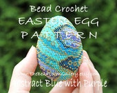 Easter Egg Pattern - Abstract Blue with Purple - Crochet PDF File TUTORIAL - Vol.21