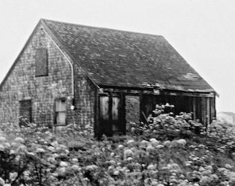 Rustic farmhouse photography boathouse photography ~ rustic photography ~ black and white photo ~ vintage Nova Scotia ~ Peggy's cove ~