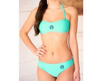 Personalized monogram swim suit bikini bottoms