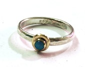 Blue Opal ring, 14k gold ring, silver ring ,Birthstone ring, Engagement Ring, Bridel set, Stackable Rings, Anniversary Rings, Solitaire Ring