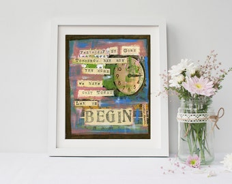 mother teresa quote art print home decor