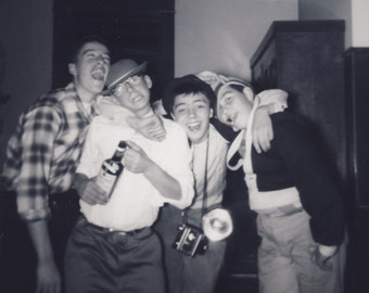 Young Men HAMMING It Up For The CAMERA In Fun Photo 1958