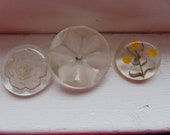 Reverse Carved Lucite Buttons