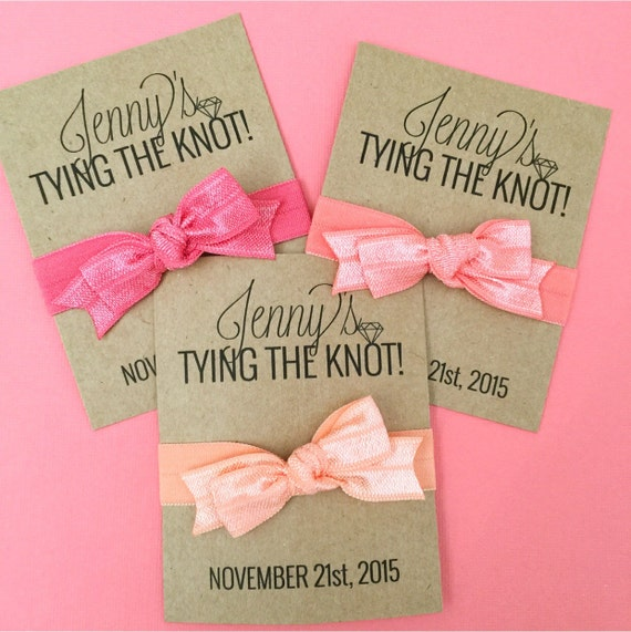 Tying the Knot Bow Bachelorette Party Favor Hair Ties