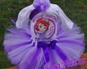 Sofia the First Princess Personalized Birthday Shirt + Tutu outfit (any age)