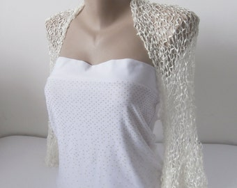 White Bridal Bolero-White Bridal Shrug-White Wedding Bolero-White Wedding Shrug-White Bolero Shrug-White Bridal Jacket-White SIlky Bolero