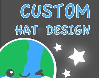 ON SALE - Custom Hats - Fleece Hat , Kawaii Beanie , Winter Fleece Hat