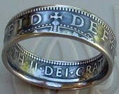 British One Shilling Coin Ring (Available in sizes 5  through 8)