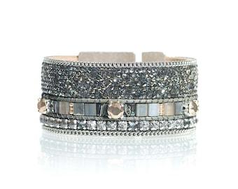 Statement bracelet / statement jewelry / statement cuff / swarovski cuff bracelet / rhinestone cuff / gift for her / sparkling jewelry