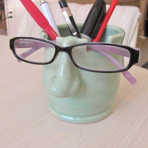 Pencil Holder Eyeglass Holder Ceramic Pottery Pencil Cup