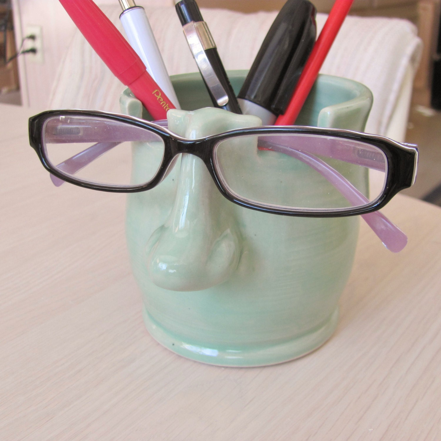 Pencil Holder Eyeglass Holder Ceramic Pottery Pencil Cup