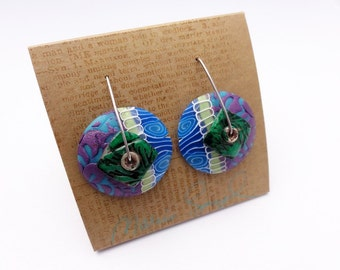 DE Wave 1 earrings, new design and style of stainless steel wires, new earring design by Marie Segal