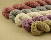 Mini Skeins - Soft Petals - Hand Dyed Fingering Sock Weight Yarn - 100% Fine Organic Merino Wool