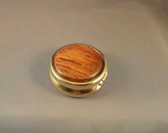 Medication Holder - Mini Pill Box - Purse - Cocobolo Wood