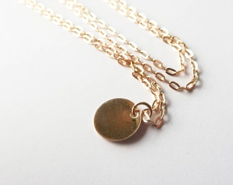 Dot | Gold Filled Circle Necklace | Minimalist Necklace