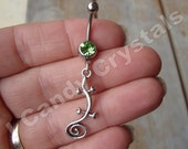 Lizard Belly Button Ring